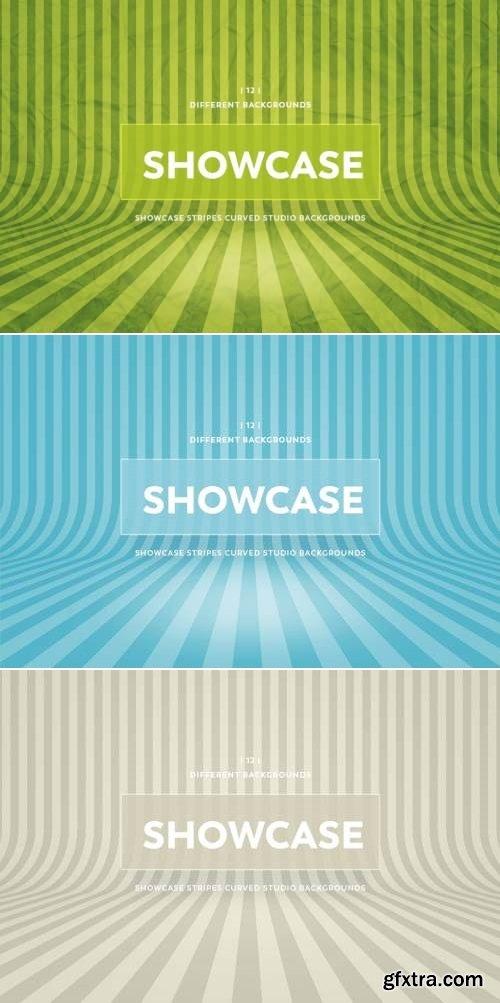 Showcase Stripes Curved Studio Backgrounds Bundle