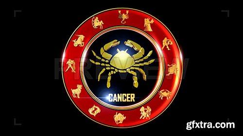 Rotating Cancer Indian Zodiac Symbol 87091