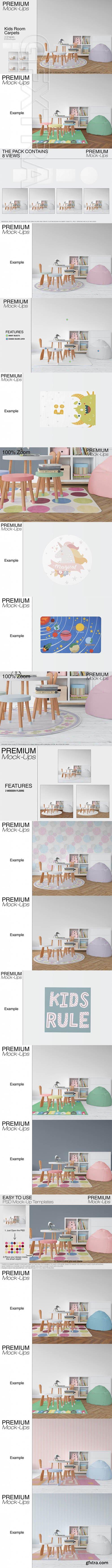 GR - Kids Room Rugs Mockups- 4 Shapes Pack