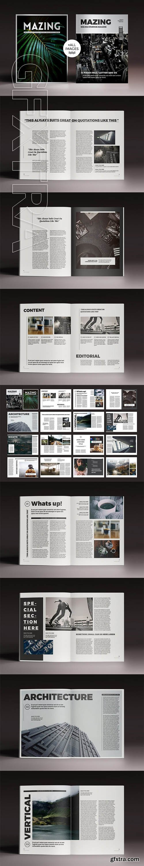 Mazing Magazine Indesign Template