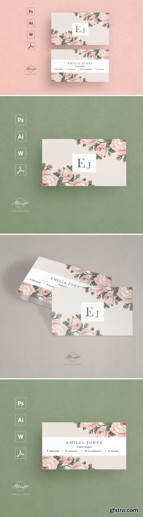 CM - Roses business card template 2543415