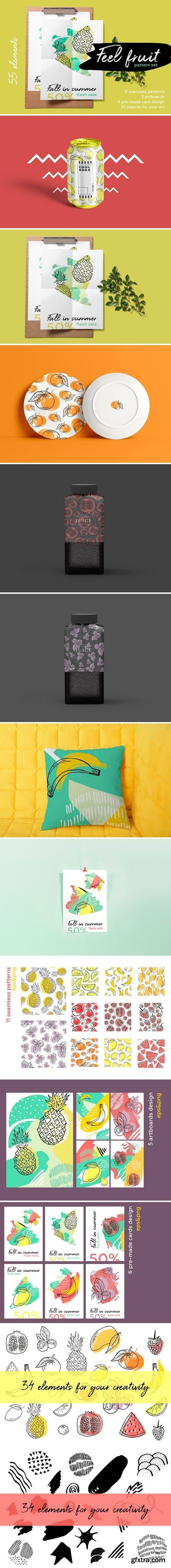 CM - Feel fruit. Summer brush pattern set 2545096