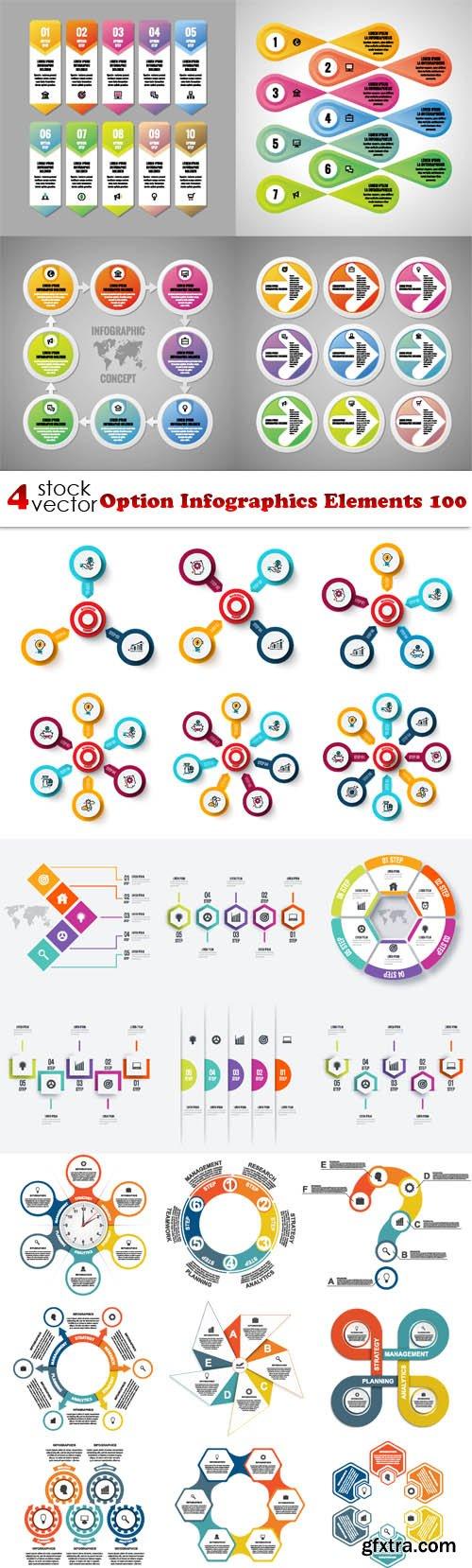 Vectors - Option Infographics Elements 100