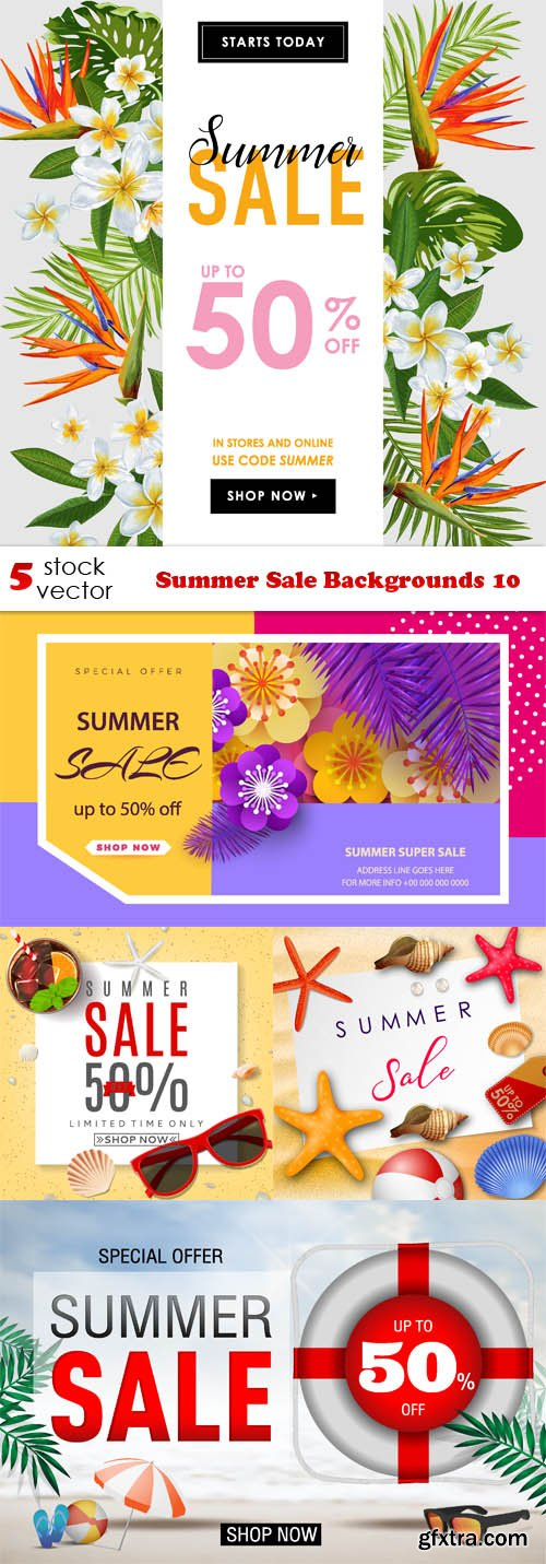 Vectors - Summer Sale Backgrounds 10