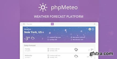 CodeCanyon - phpMeteo v1.6 - Weather Forecast Platform - 21125163
