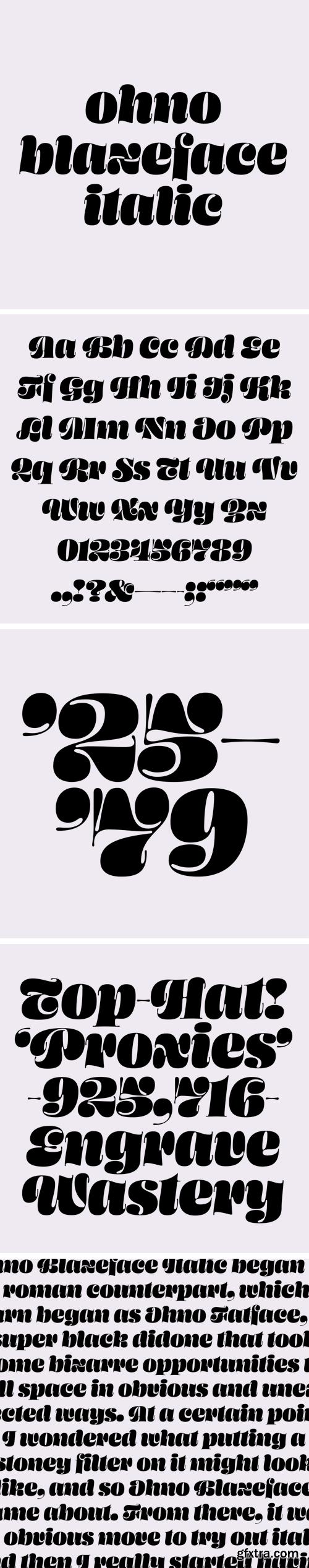 Ohno Blazeface Italic Font