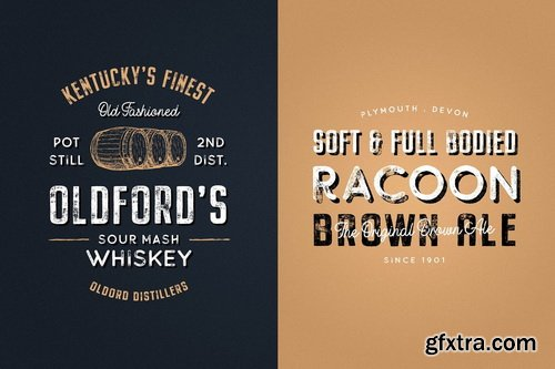 Buckwheat Vintage Font Collection