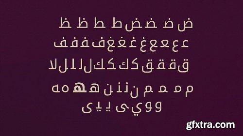 Videohive Arabica- Animated Arabic Typeface 10062361
