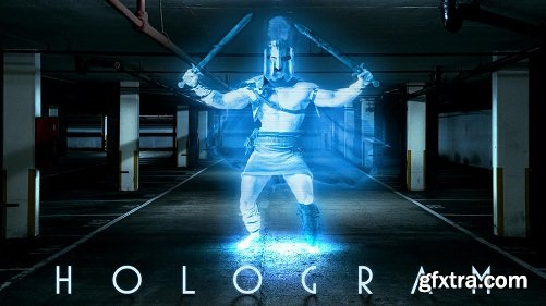 How to Create the Look of a Classic, Retro, HOLOGRAM in Photoshop!