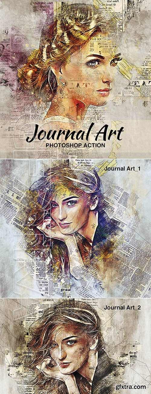 GR - Journal Art Photoshop Action 22062879