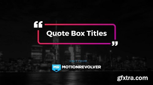 Videohive Quote Box Titles 19857551