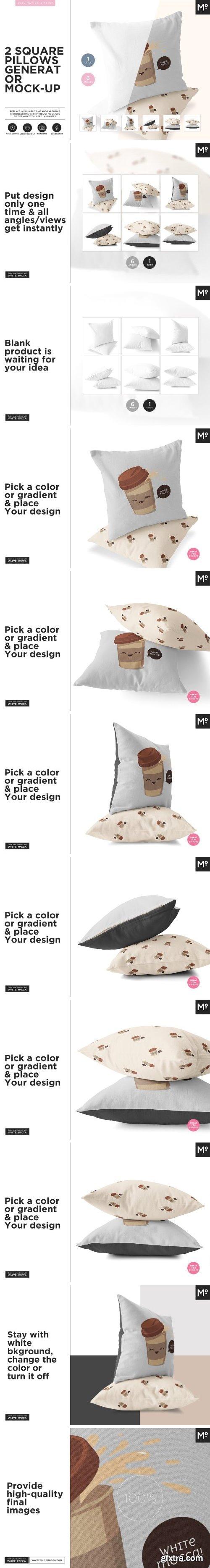 CM - 2 Square Pillows Generator Mock-up 1510334