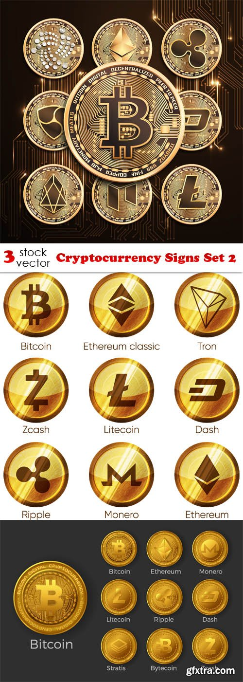 Vectors - Cryptocurrency Signs Set 2