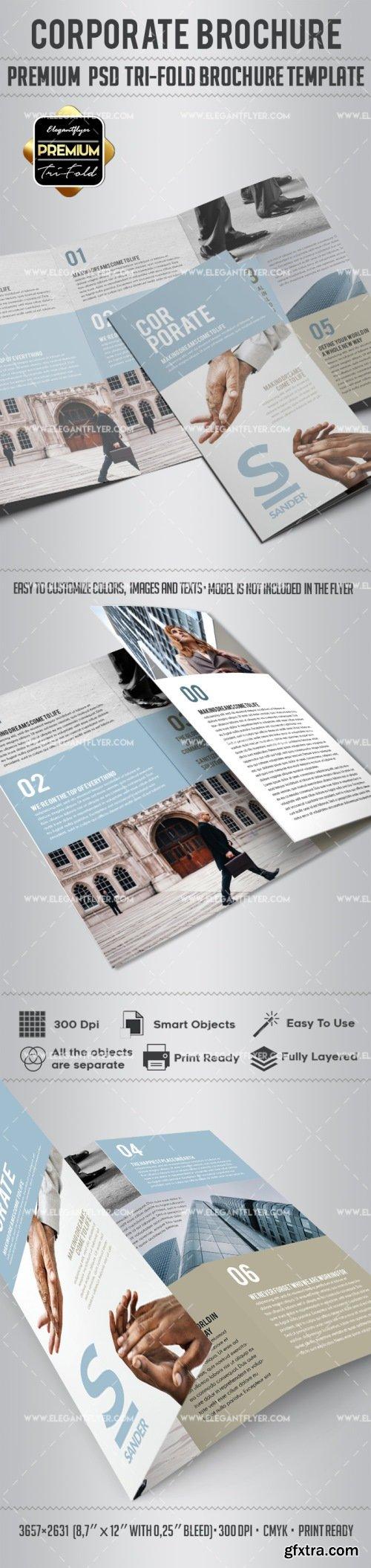 Corporate – Tri-Fold Brochure PSD Template