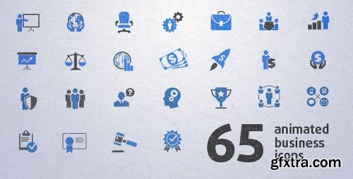 Videohive 65 Animated Business Icons 5328927