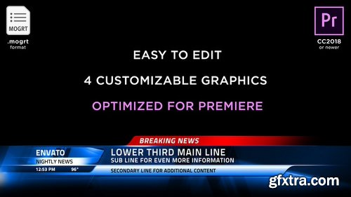 Videohive Broadcast News Lower Thirds | MOGRT for Premiere Pro 21879682