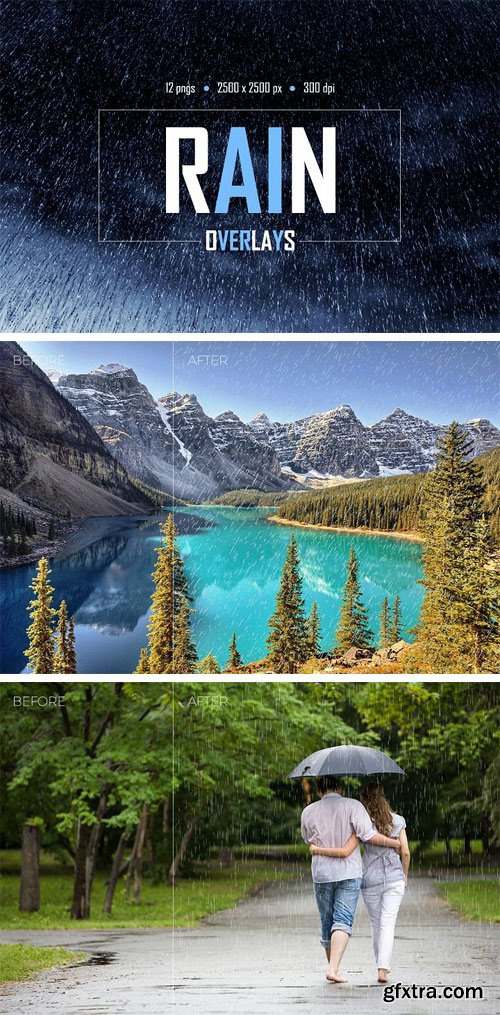 Designbundles - Rain Overlays