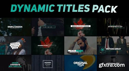Dynamic Titles Pack - After Effects 89542