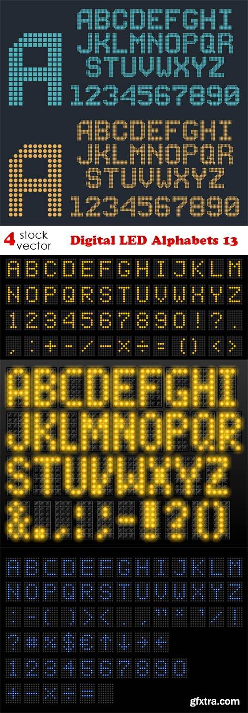Vectors - Digital LED Alphabets 13