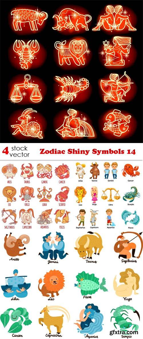 Vectors - Zodiac Shiny Symbols 14