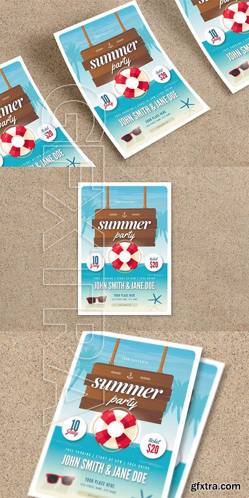 CreativeMarket - Summer Party Flyer 2606853