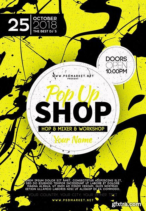 Pop up Store Flyer – PSD Template