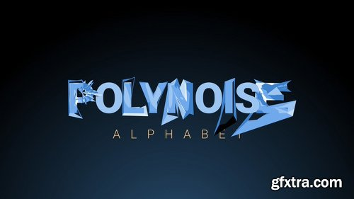 Videohive PolyNoise Alphabet - Animated Typeface 16871115
