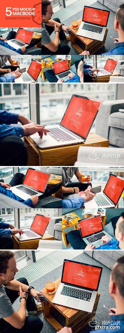 5 PSD Mockup MacBook bundle