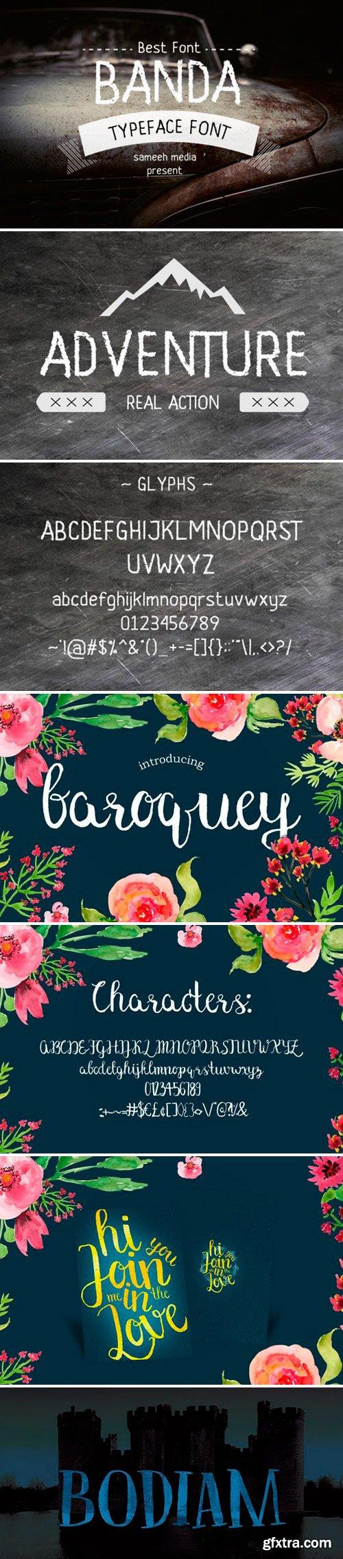 Bodiam, Baroquey Script, Banda-Font-Typeface