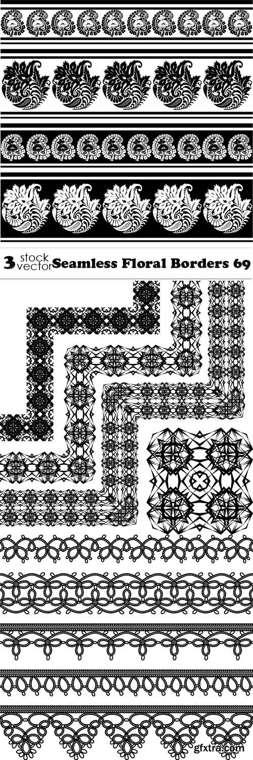 Vectors - Seamless Floral Borders 69