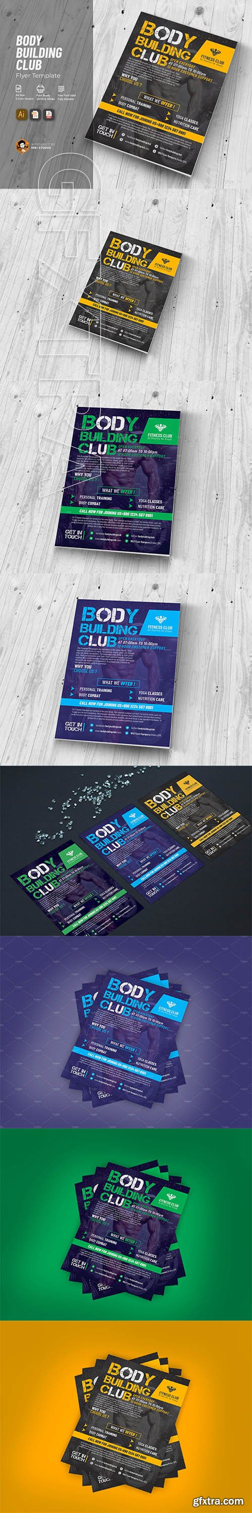 CreativeMarket - Body Building Club Flyer 2636793