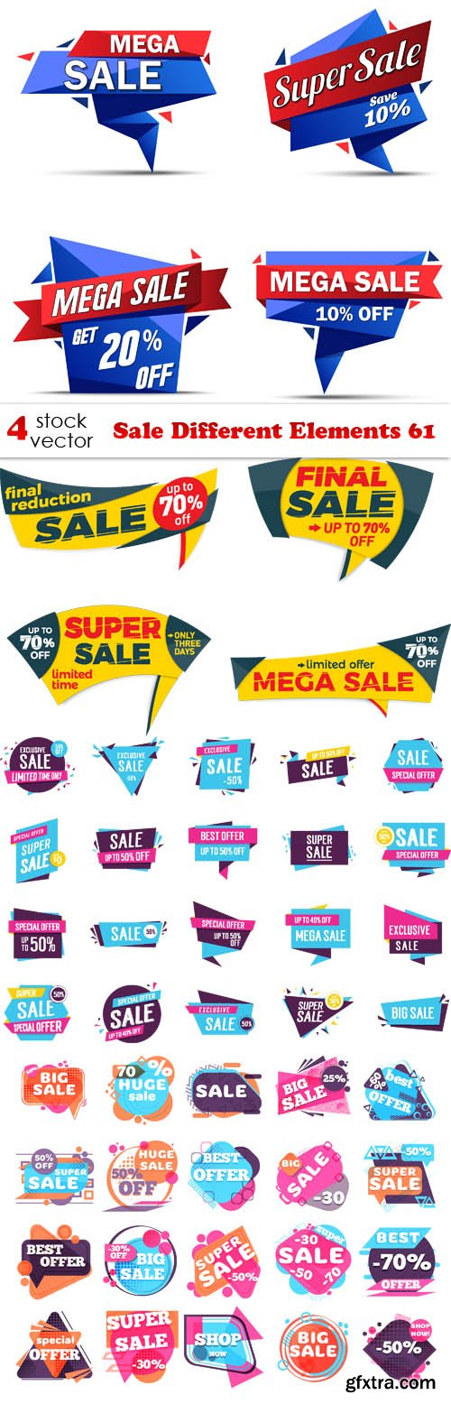 Vectors - Sale Different Elements 61
