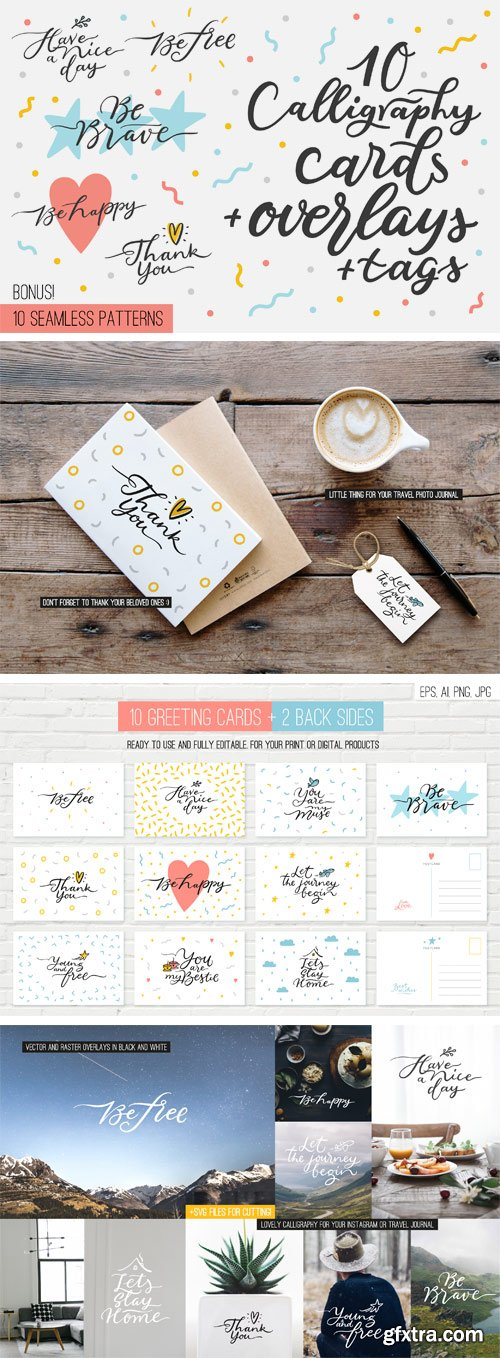 Designbundles - 10 Overlays, Cards and Tags 12225