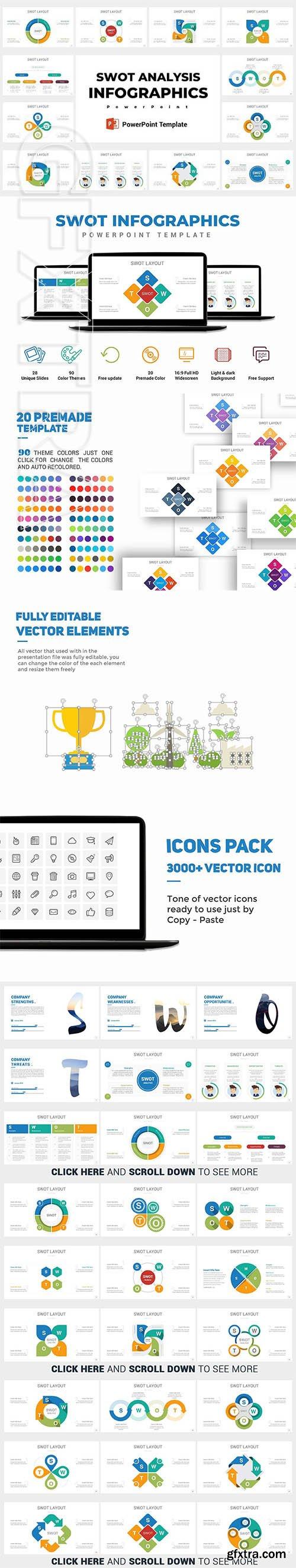 CreativeMarket - Swot Analysis Infographics 2442276