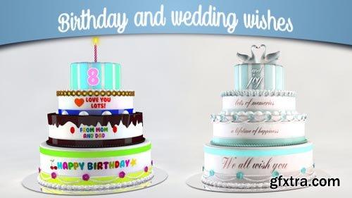 Videohive - Birthday and Wedding Wishes - 12839150