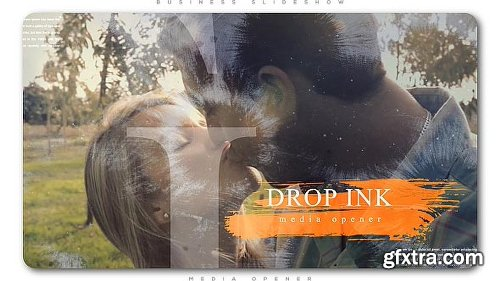 Videohive Ink Drop Romantic Media Opener 20525147