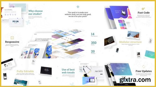 Videohive Minimal Website / Agency Presentation 21665171