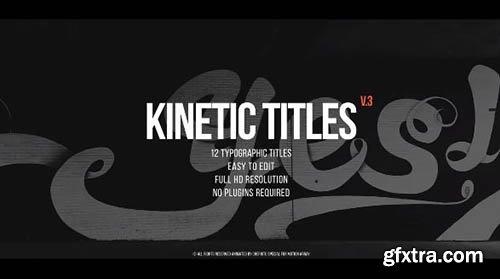 Kinetic Titles v3 - Premiere Pro Templates 90888