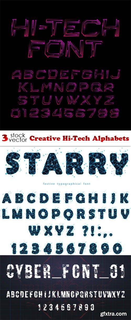 Vectors - Creative Hi-Tech Alphabets