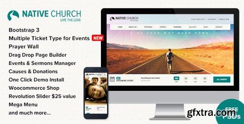 ThemeForest - NativeChurch v2.9.9.3 - Multi Purpose WordPress Theme - 7082446