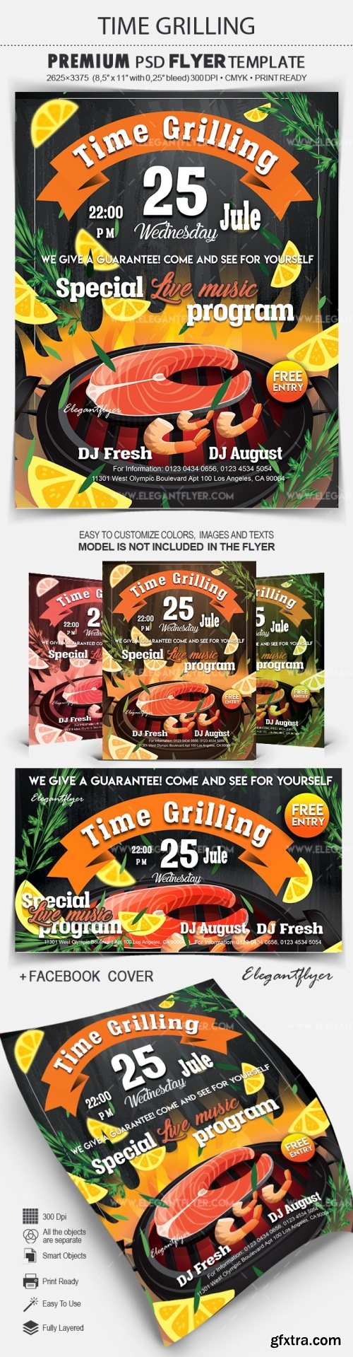 Time Grilling – Flyer PSD Template