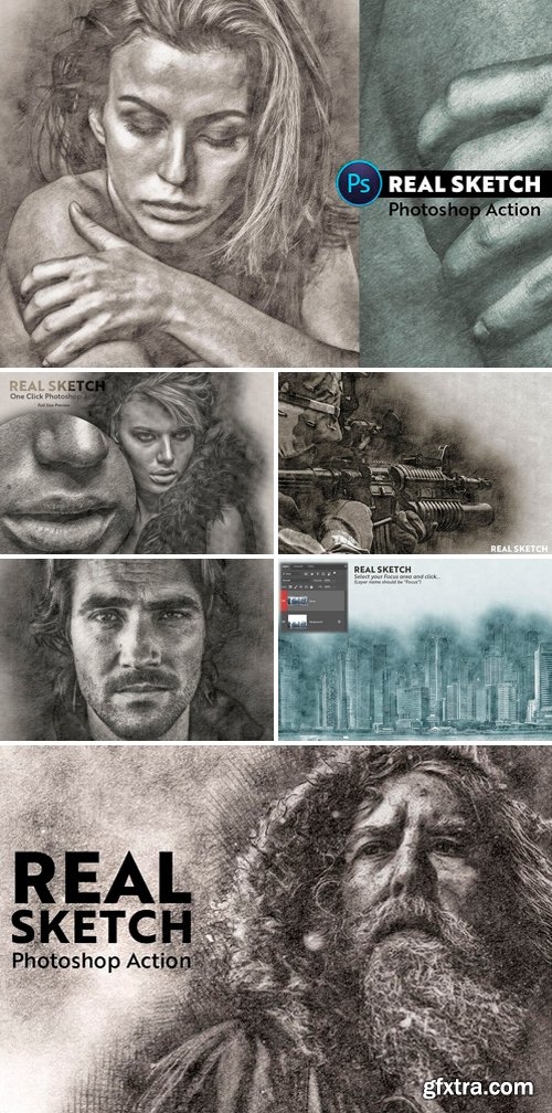 Graphicriver - Real Sketch Pro Photoshop Action 22016965