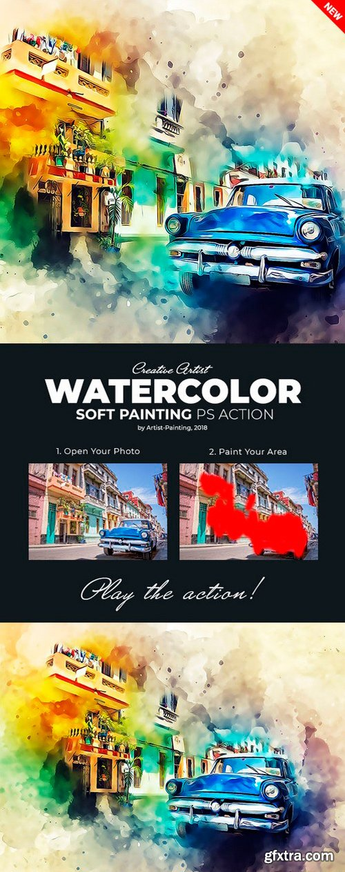 Graphicriver - Watercolor Soft Painting Photoshop Action 22082612