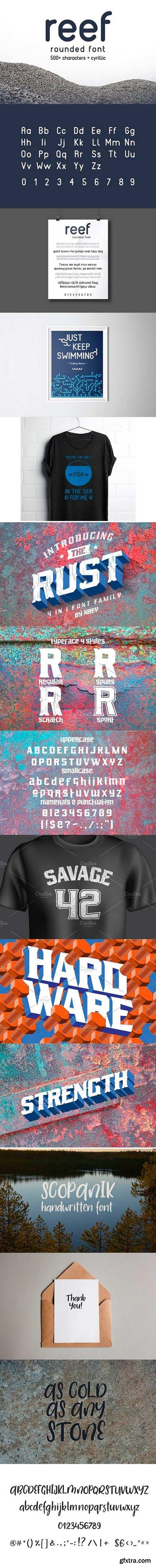 Rust, Scopanik, REEF Fonts