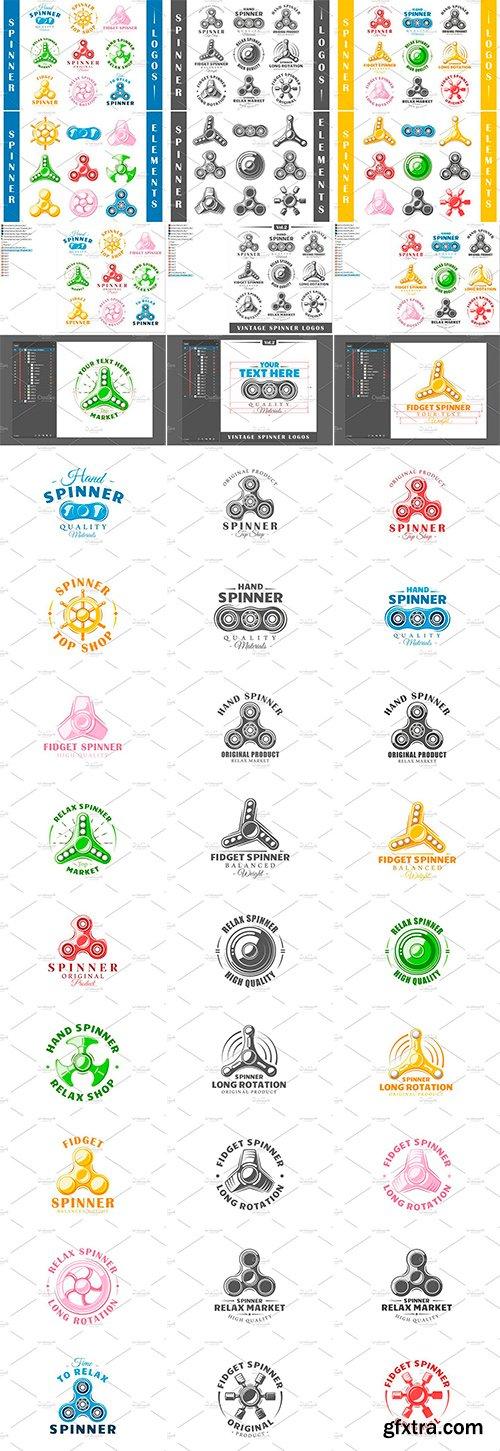 Spinner Logos Templates bundle