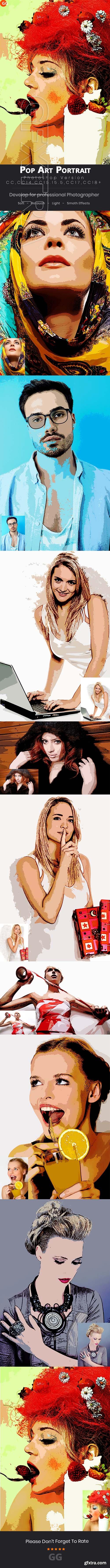 GraphicRiver - 10 Pop Art Portraits Photoshop Action 22042646