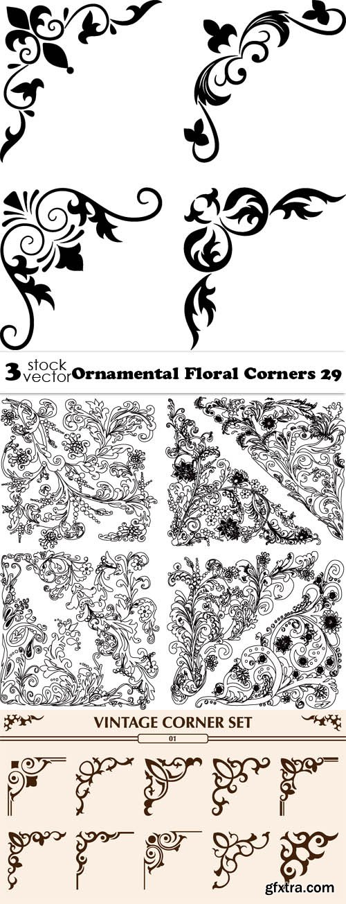 Vectors - Ornamental Floral Corners 29