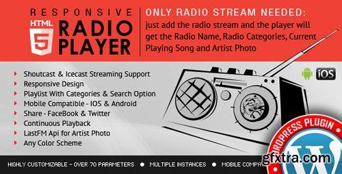 CodeCanyon - Radio Player Shoutcast & Icecast WordPress Plugin v2.1 - 9013963