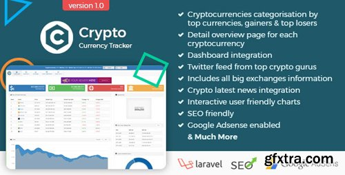 CodeCanyon - Crypto Currency Tracker v1.0 - Realtime Prices, Charts, News, ICO's and more - 21588008