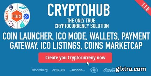 CodeCanyon - CryptoHub v1.2.0 - Coin Launcher | ICO System | MultiCrypto Wallets | CryptoExchange | Payment Gateway - 21662898